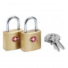 GO Travel  2 Brass TSA Keylocks